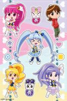 STICKERS HappinessCharge PreCure by Vulpixi-Misa