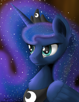 Royalty Portrait - Princess Luna by NiegelvonWolf