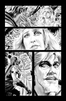 Green Arrow 7 Page 19 B+W art by mikemayhew