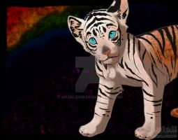 The tiger and the rainbow WIP by Anjali2010