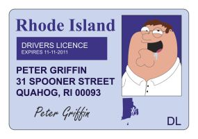 Peter's Driver's Licence by CartmanPT