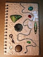Clay covered Journal WIP by MandarinMoon