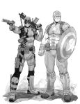 Deadpool and Captain America by Max-Dunbar