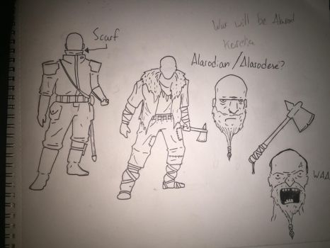 Seabring Navy officer and Alarodin/Ale  warrior by GalacticVikings