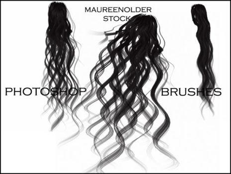 STOCK PHOTOSHOP BRUSHES hair4 by MaureenOlder