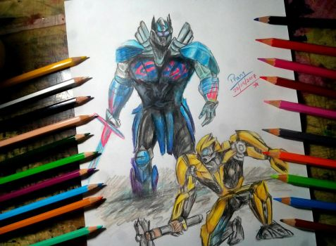 Optimus prime vs Bumblebee by Pranjalshrivastava