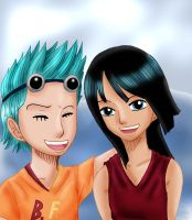 OP Kids: Franky and Robin by Kaschra