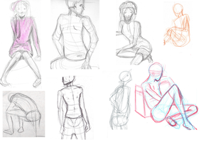 Figure Drawing Dump by Ramen11111