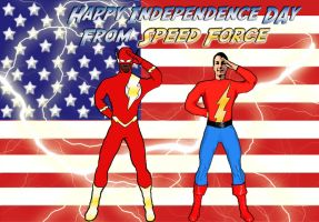 Happy 4th for Speed Force by FastestFanAlive