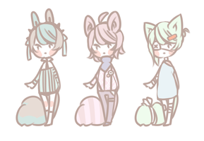 Free Adopts Raffle for watchers [CLOSED] by kiim-adopts