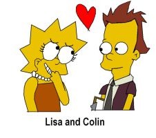Lisa and Colin by invderzimfannumber1