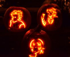 Devil May Cry Jack O Lanterns by CeruleanTwin