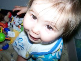 Looking Down at My Baby Sister by Thora-T