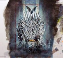 The Iron Throne by DavidDeb