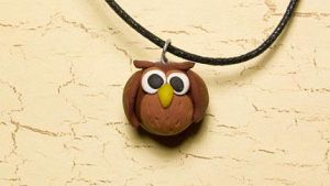Cute owl necklace by skuggsida