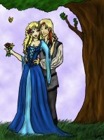 Aardrin and Oriane by Captain-Savvy
