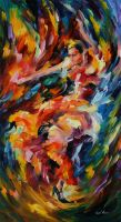 Magic flamenco by Leonid Afremov by Leonidafremov