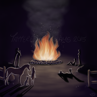 Shadows Cast by Firelight by Tattered-Dreams
