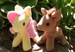 Pony Duo - Fluttershy and Timeturner by Couch-stuffs