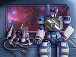 Gift Art - Soundwave and Ravage by Kriegswaffle