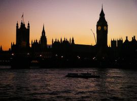 Sunset over Westminster by sonicwindartist