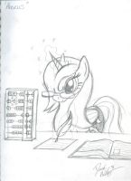 Abacus Sketch by bigponymac