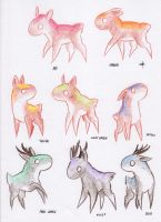 Rainbow deer herd pts by Dogmaniac