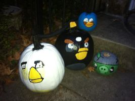 Angry Birds on the Stoop by Stencils-by-Chase