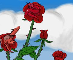 Dragon Roses by clarinetplayer