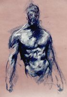 Standing Male Figure by DEREKoverfield