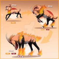 Fire starter Fakemon by YuiMisuki