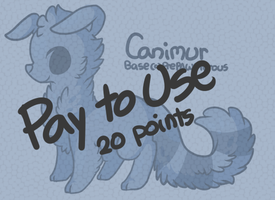 :Pay to Use Canimur Lineart(20 points): by PrePAWSterous