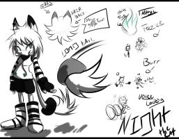 Night Dark the cat REF by Zubwayori