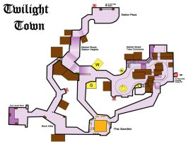 Twilight Town Map 1 by Axedya