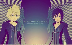 Roxas+Xion,,Wallpaper by Twist3D--Mind