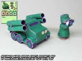 papercraft Advance Wars GE Rockets final build by ninjatoespapercraft