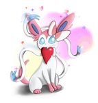 Sylveon Love by Milanoss
