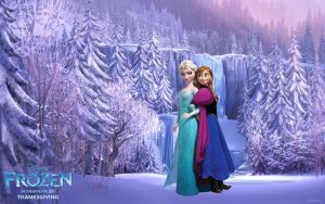 Frozen-Wallpapers-Elsa-Anna II by Vegetto90