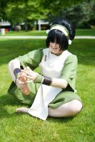 Avatar: The Last Airbender - Toph and her Feet by GoldenMochi