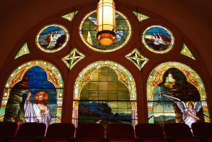 Stained Glass Windows Baptist church Jacksonville by ENT2PRI9SE