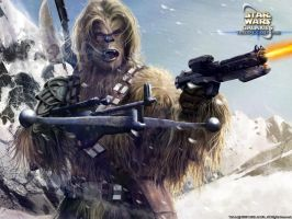 Wookiee warrior by Rogerrch