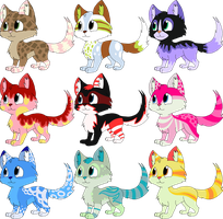 Free cat adoptables CLOSED by AdolfWolfed4Life
