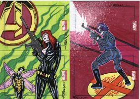 marvel Universe sketch cards36 by TomKellyART