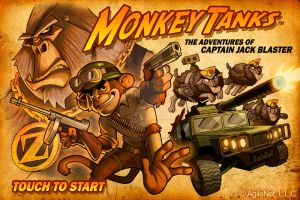 MonkeyTanks Start Screen by GeorgeSellas