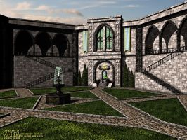 Zelda - Courtyard Remake by robbienordgren