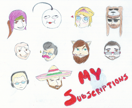 My Subscriptions by kittyslikecookies