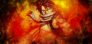 (Fairy Tail) Natsu Background by MiyuGaze