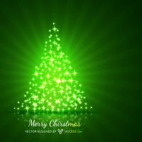 Green Christmas Tree Free Vector by vecree
