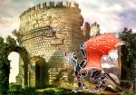 CC red dragon castle by starlight2infinity