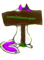commissions open sign by Meeka-The-Fire-Wolf
